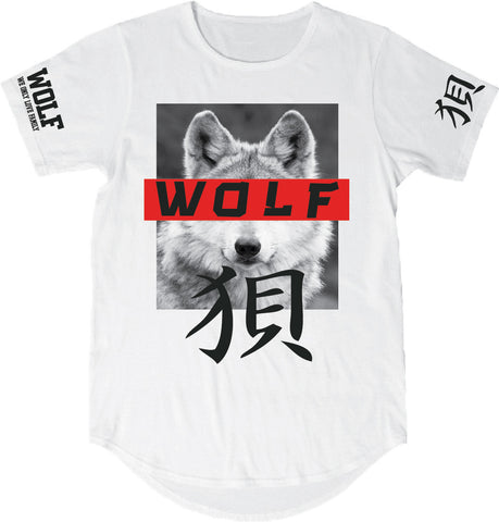 T-Shirt: Wolf Love - Blue & White