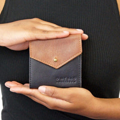 Georgie's wallet - eco midnight blue/ eco camel
