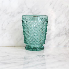 Portugees waterglas diamond - blauw