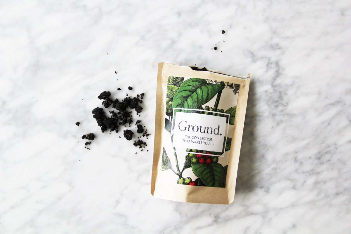 Ground. coffee based scrub