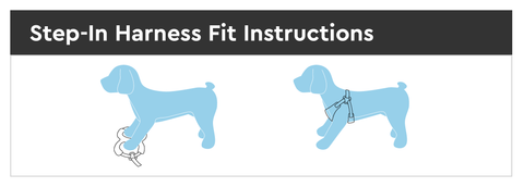 dog step in harness fit instruction