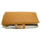 Leather Checkbook with Optional Karas Custom Pen