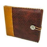Merlot Saddle Leather Guest Book with Nickel Concho