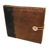 Whiskey Ember Bison Leather Guest Book with Copper Concho