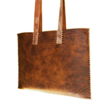"""Singer"" Leather Bags with Coconut Birch Strap"