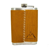 "8oz Stainless Steel ""Give a Flake"" Flasks"