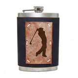 8 oz Premium Stainless Steel Leather Flask