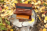 """Emerson"" Leather Journal Bags with Optional Kara's Kustom Pen"