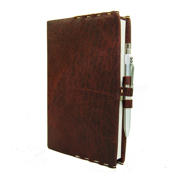 """Writer's"" Medium Leather Journal Cover with Option Karas Kustom Pen"