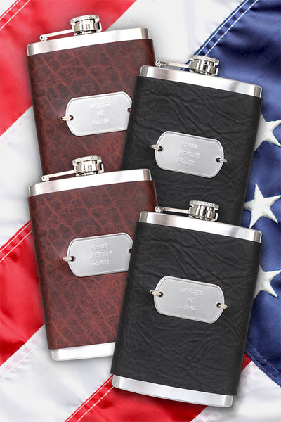 Commemorative U.S. Armed Services Flasks
