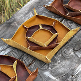 Leather Valet Tray Set