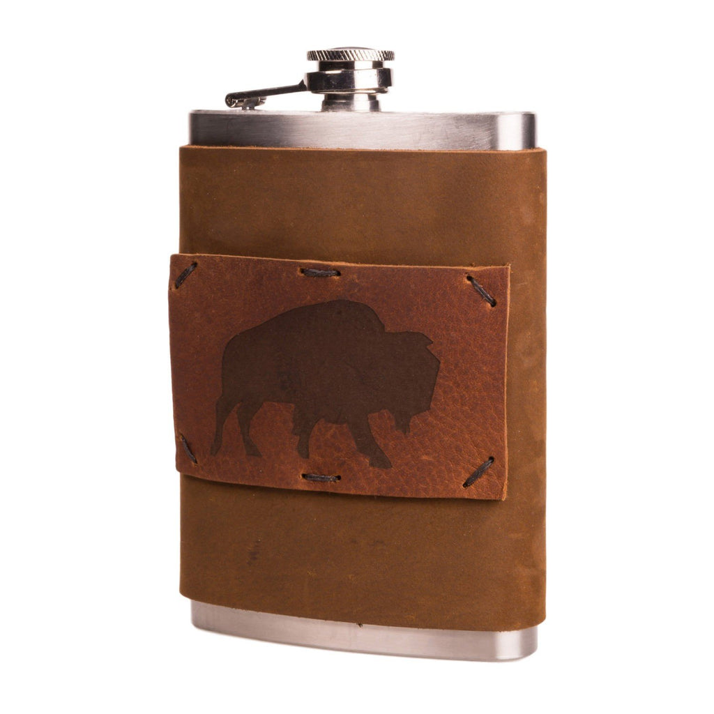Limited Edition Weaver Bark Brown 8 oz Flask