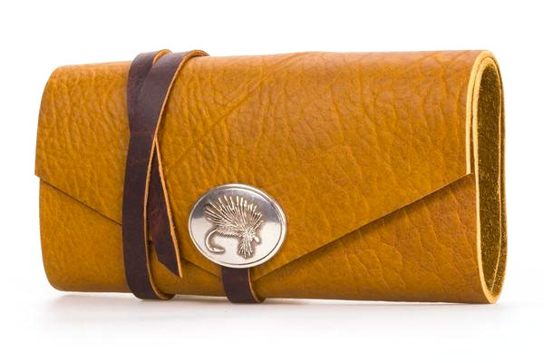Fly Fishing Wallet with Polished Nickel Concho