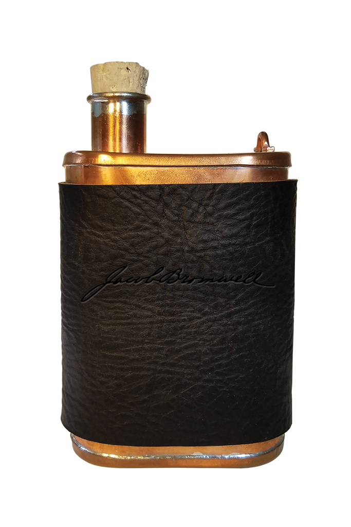 Jacob Bromwell® 6oz Copper Flask Leather Sleeve