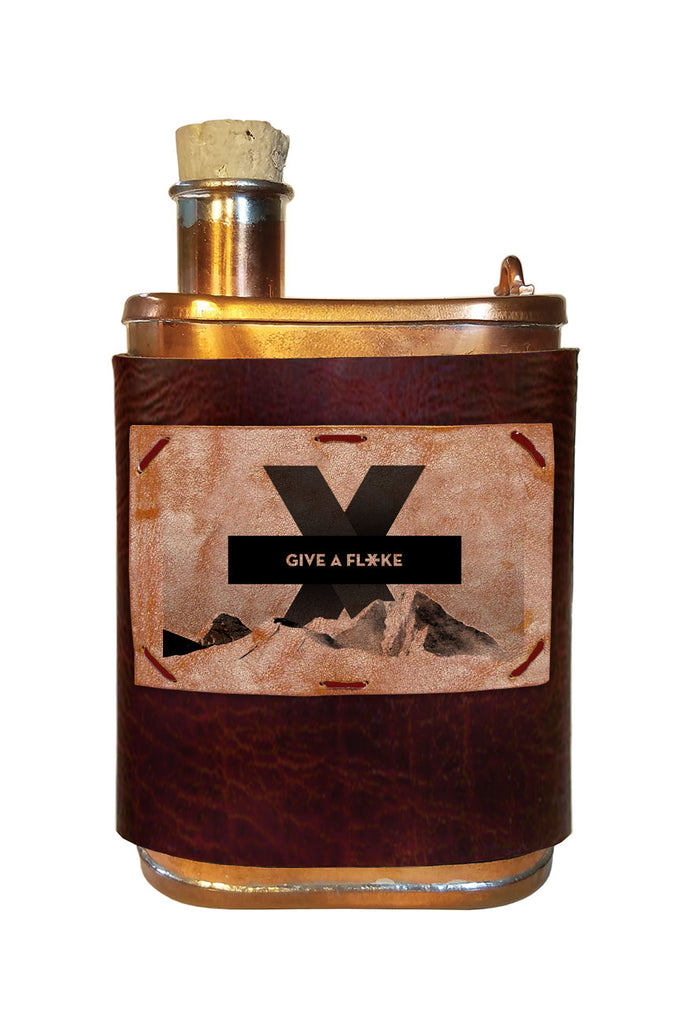 "9 oz Copper ""Give a Flake"" Flasks"