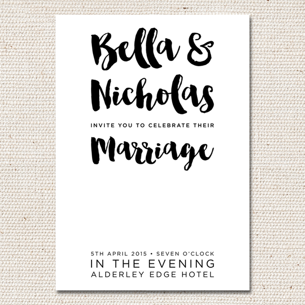 Bella Flat Invites