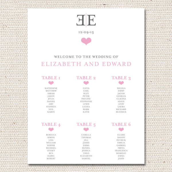 Elizabeth Table Plan
