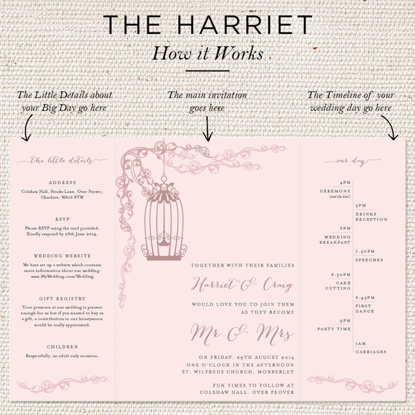 Harriet Folded Invites