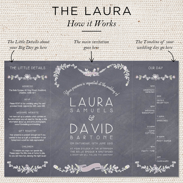 Laura Folded Invites
