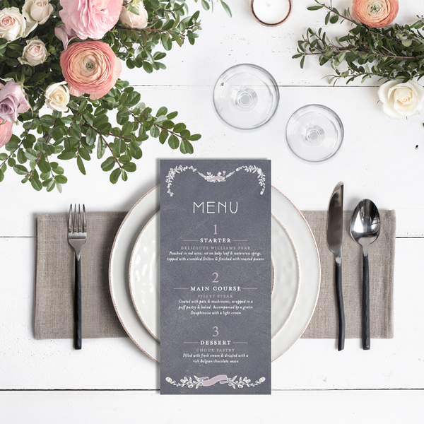 Laura Menu Card