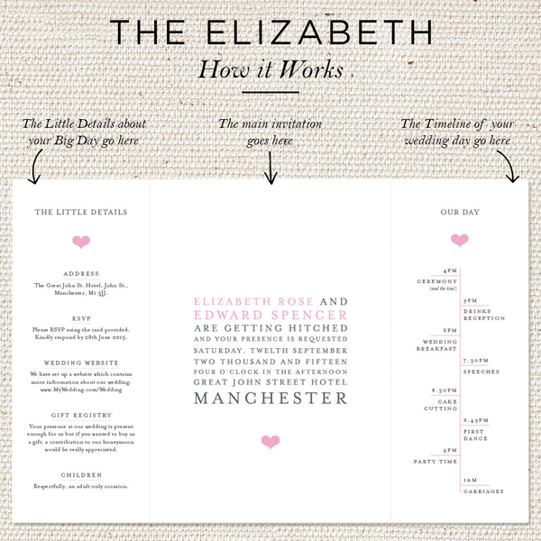 Elizabeth Folded Invites