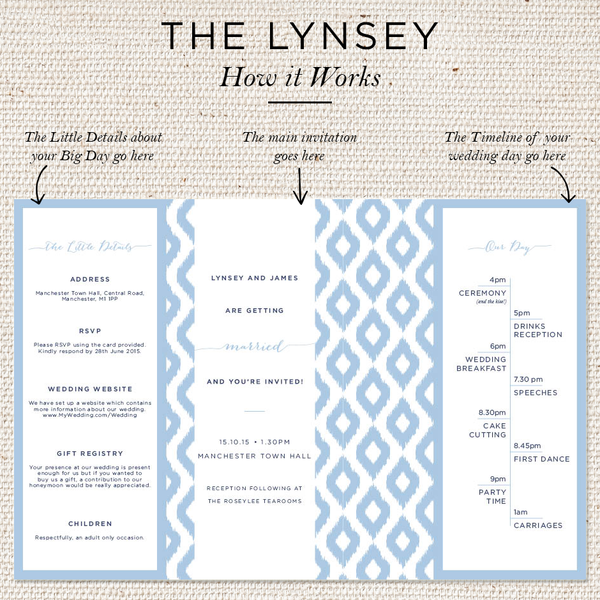 Lynsey Folded Invites