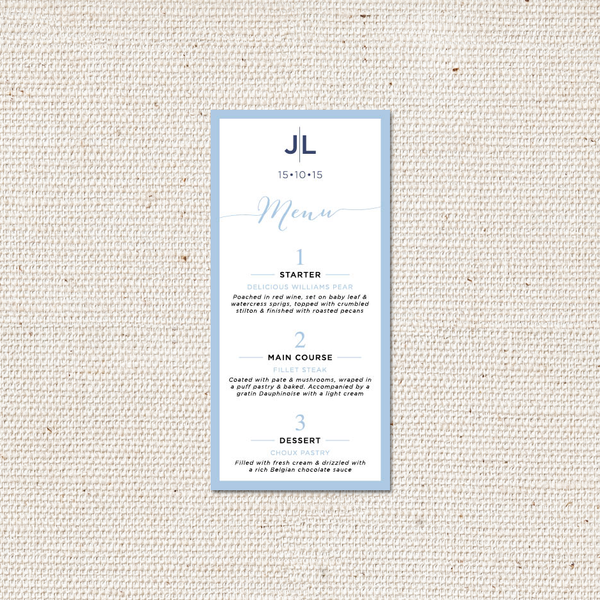 Lynsey Menu Card