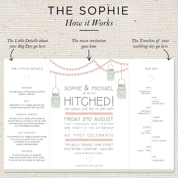 Sophie Folded Invites