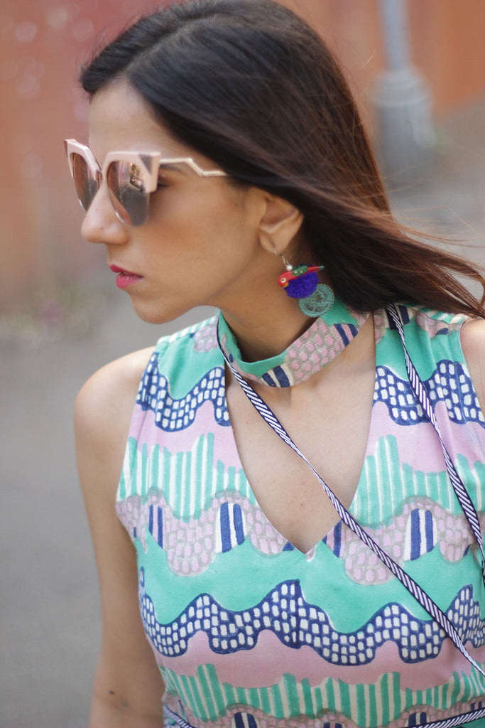 Nishka Lulla wearing the Wave Choker Dress by JODI