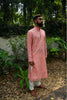 Cotton silk embroidered kurta