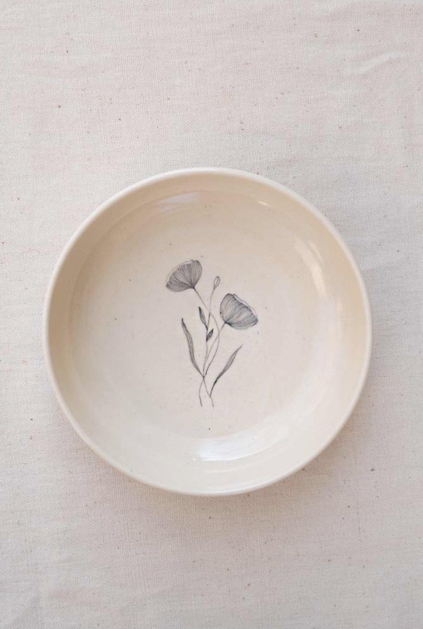 MINIMAL INDIAN POPPY BOWL