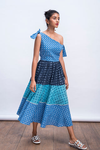 Tobe Tie up Tiered Dress