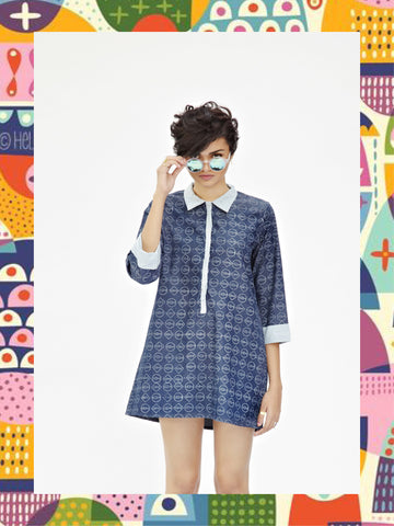 Denim 60s' Mini Dress