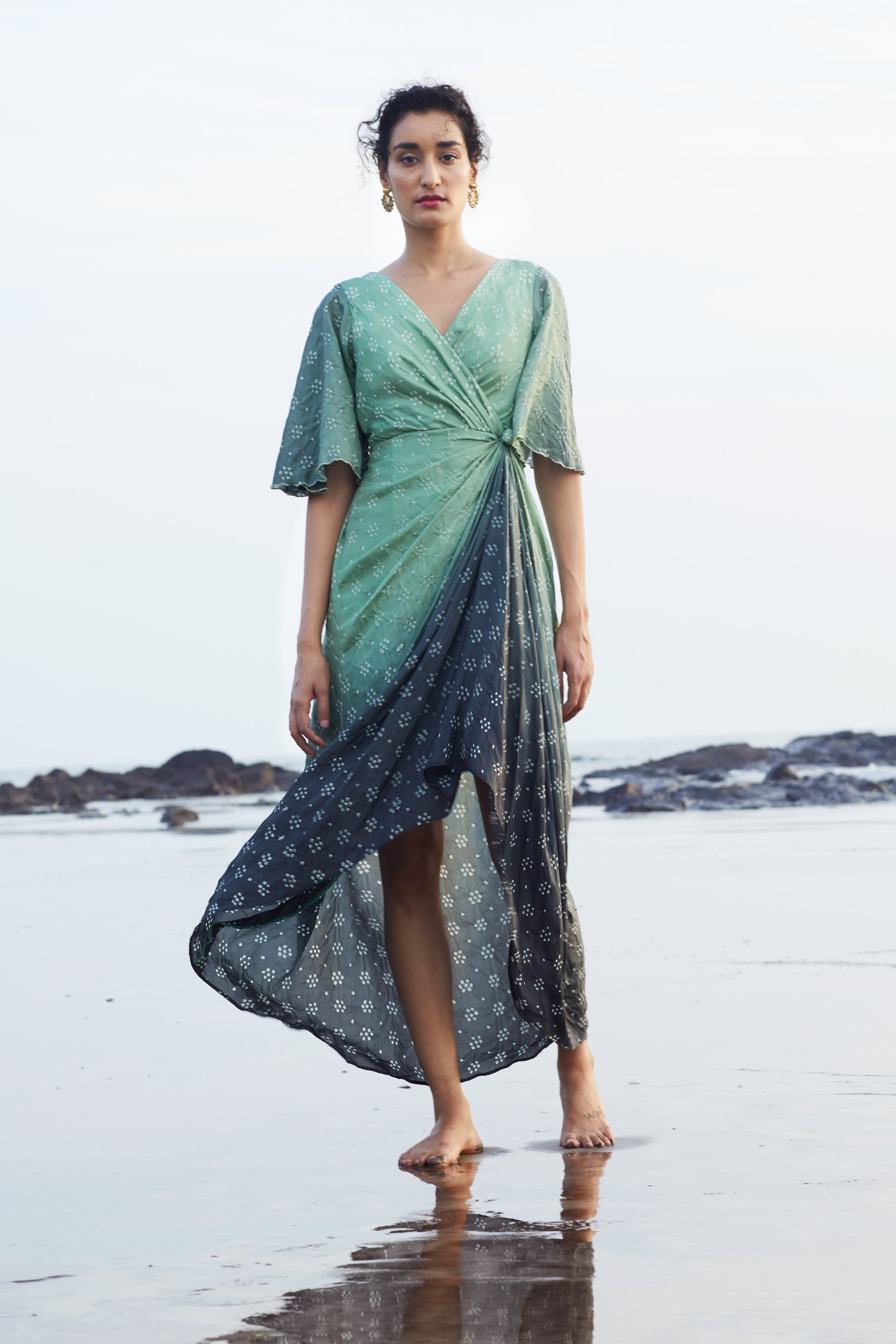 Noor draped dress