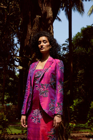 ZEENAT RAW SILK BLAZER