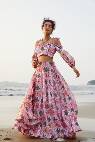 CHAMELI MULBERRY SILK LEHENGA SKIRT