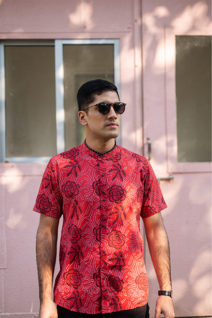 The Chilli Red Floral Shirt