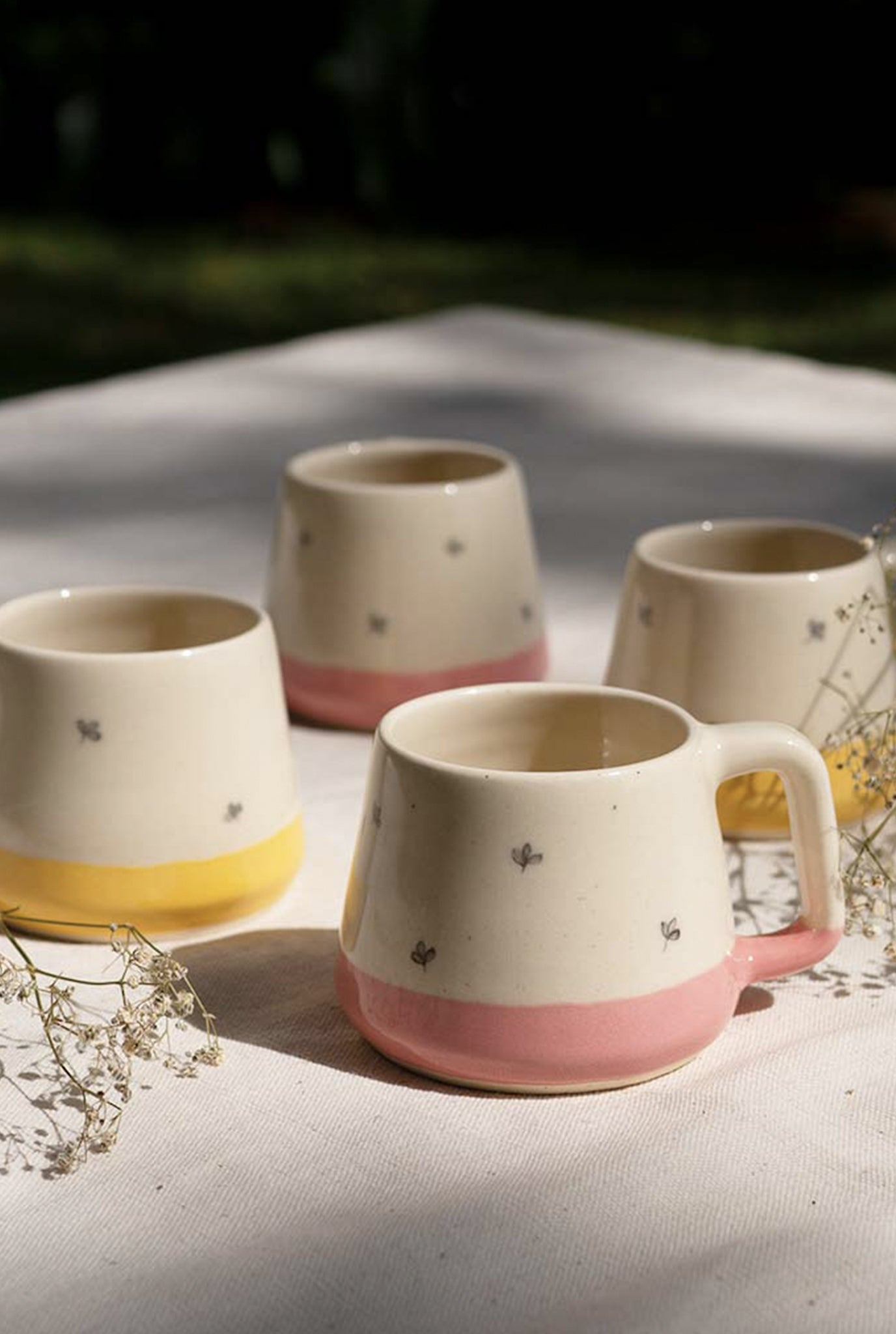 MINIMAL INDIAN BELA TEACUPS - SET OF 4