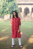Chilli Red Floral Kurta