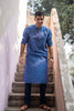Blue Raisin Print Kurta