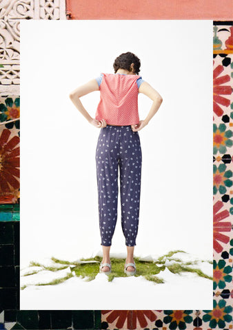 Indigo Heart Peg Trousers