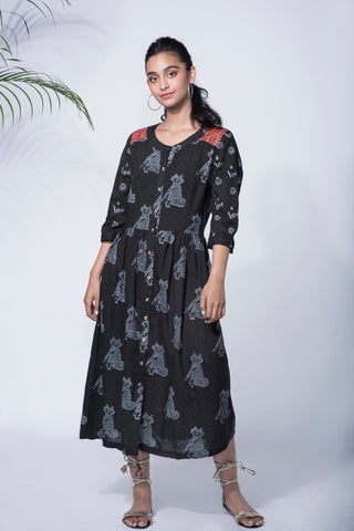 FOX BLACK KURTA