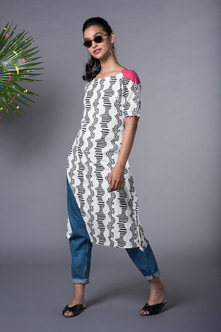 WAVE ASSYMETRICAL KURTA