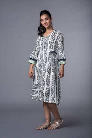 SWAHILI GATHERED KURTA DRESS