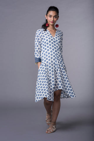 BLUE POLKA ANTI FIT DRESS