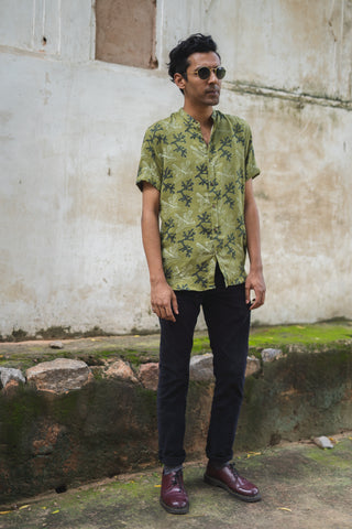 OLIVE CORAL SHIRT