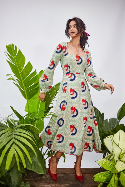GAUGUIN MIDI DRESS