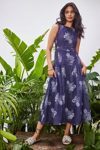 INDIGO BEETROOT MAXI DRESS