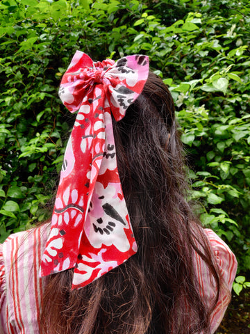 MATISSE RUBY BOW SCRUNCHIE
