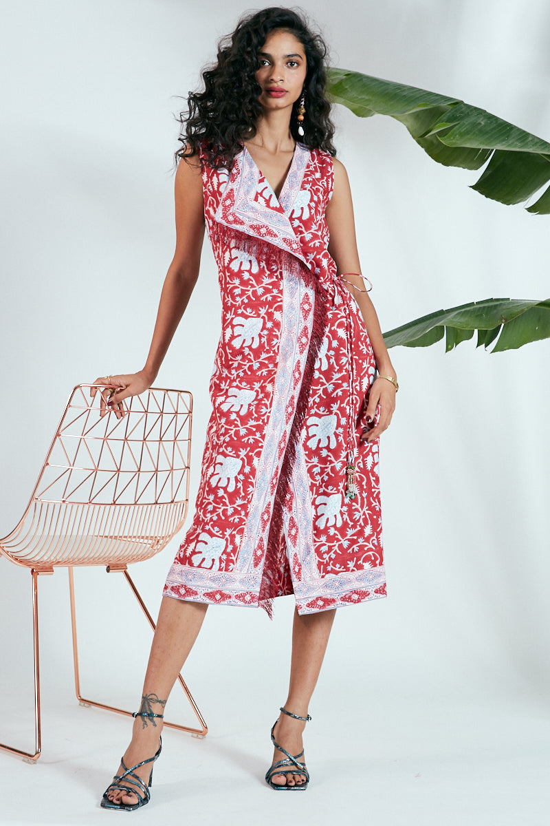 JHUMPA WRAP DRESS